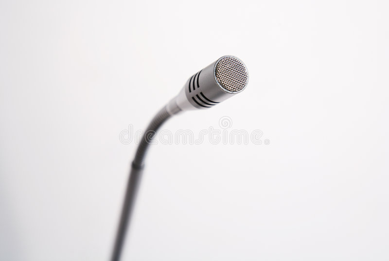 mikrofontalkback arkivfoto