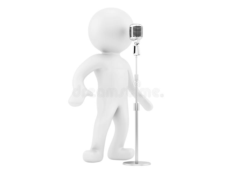 mikrofontappning royaltyfri illustrationer