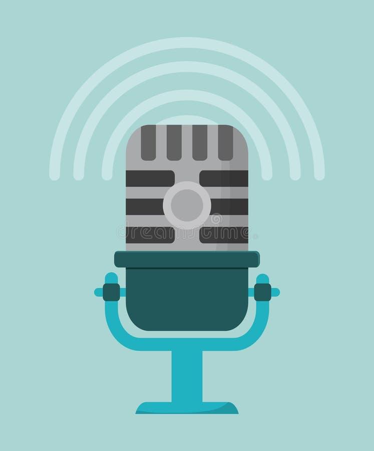 Mikrofonu gadżetu rozsądny projekt ilustracja wektor
