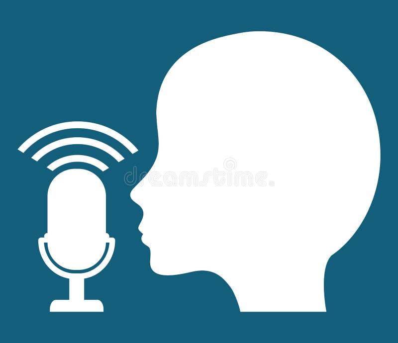 Mikrofonu gadżetu rozsądny projekt royalty ilustracja