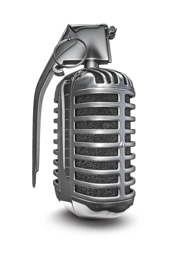 Mikrofonu granat ilustracja wektor
