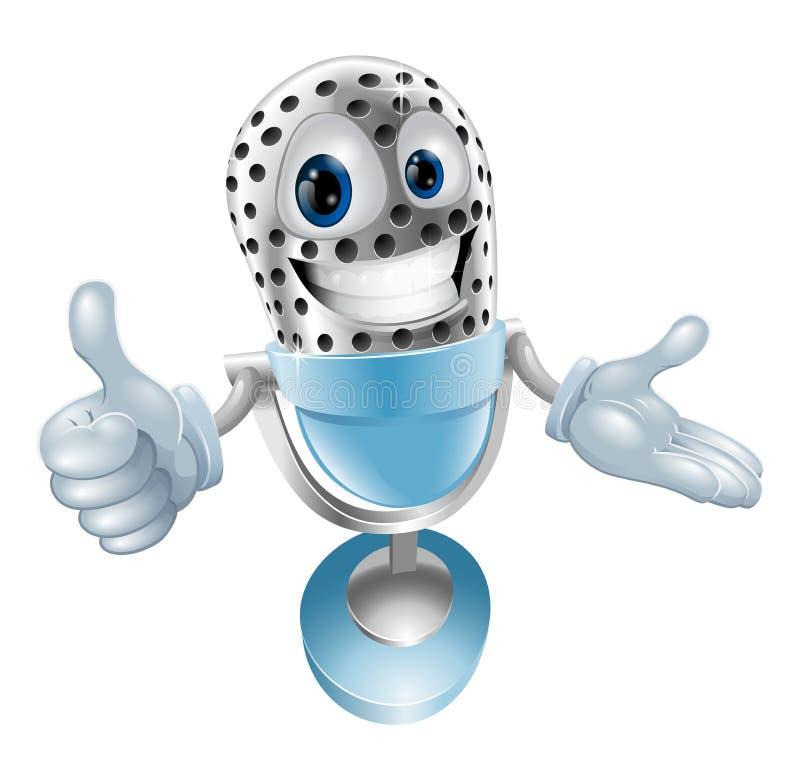 Download Mikrofonu śliczny Charakter Ilustracja Wektor - Obraz: 23636587