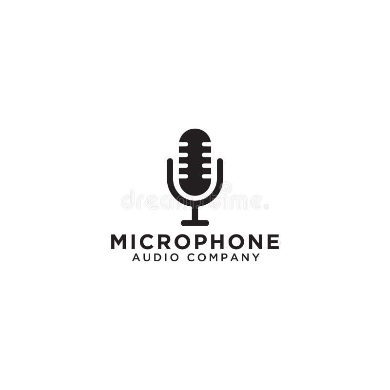 Mikrofonu loga ikony szablon royalty ilustracja