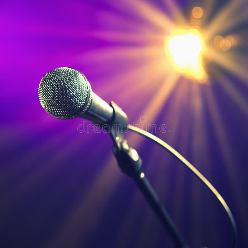 mikrofonu przyjęcie zdjęcia stock