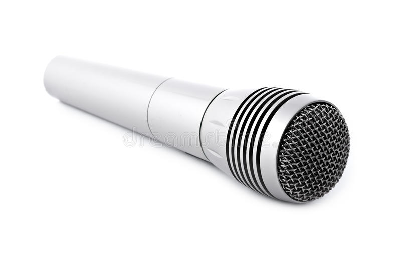 mikrofonu srebro fotografia royalty free