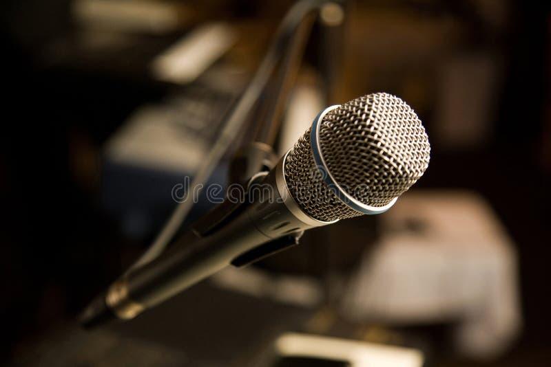 mikrofonu stojak obraz royalty free
