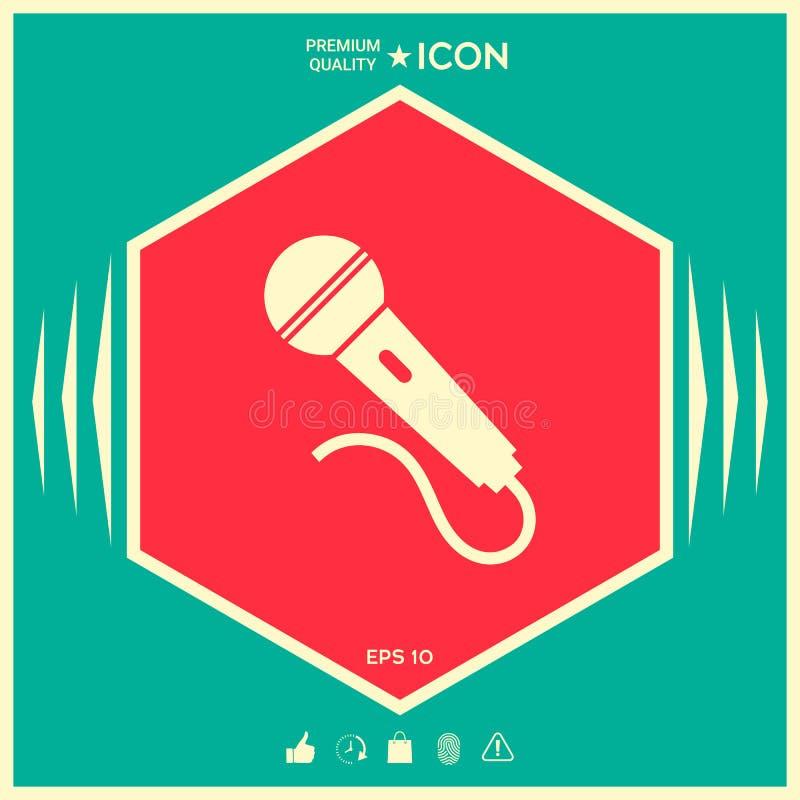 Mikrofonu symbolu ikona ilustracji