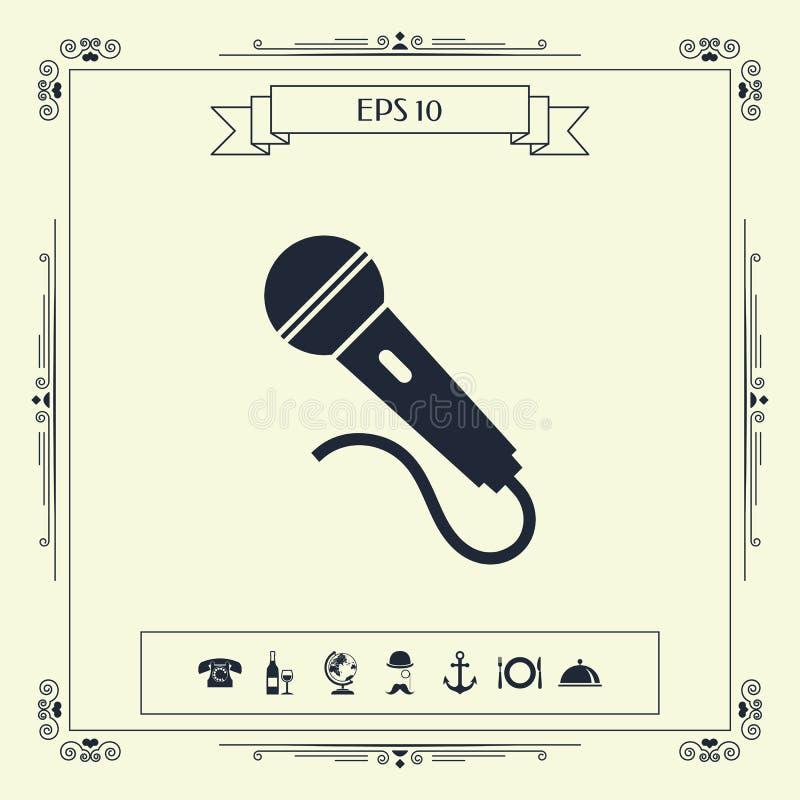 Mikrofonu symbolu ikona ilustracja wektor