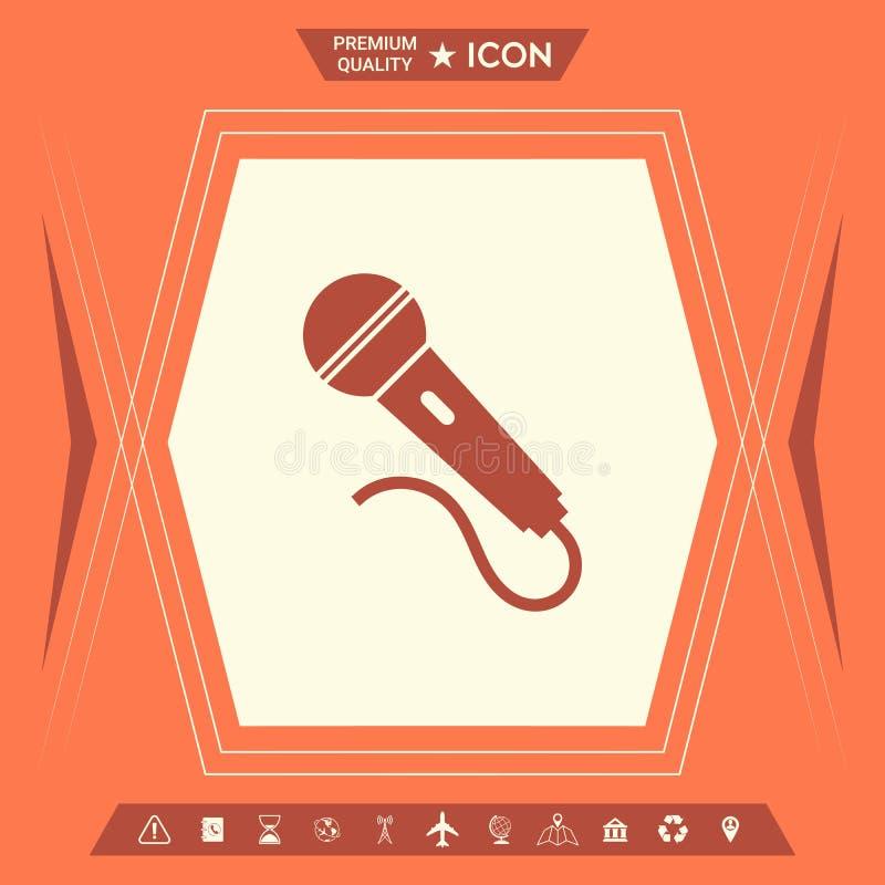 Mikrofonu symbolu ikona royalty ilustracja