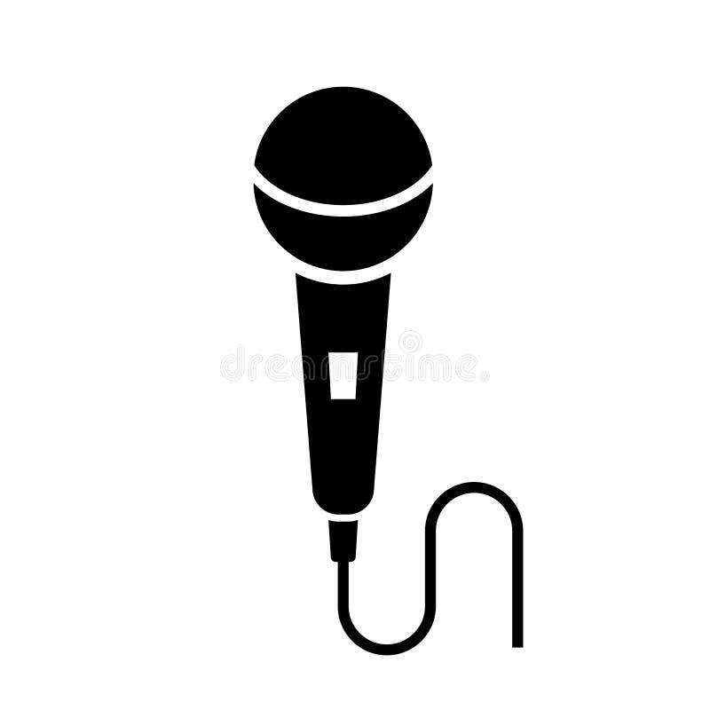 Mikrofonu wektoru ikona royalty ilustracja