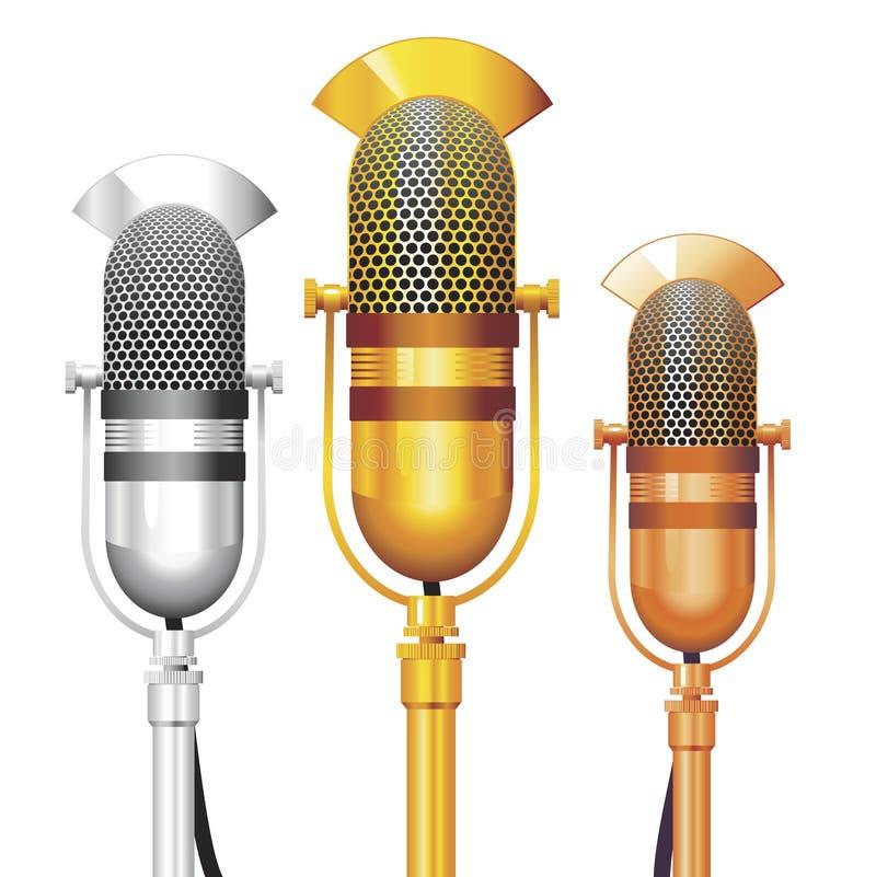 mikrofonvektor royaltyfri illustrationer