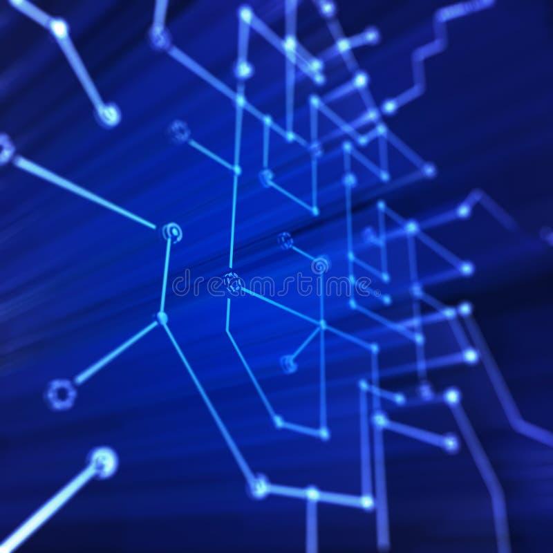 Mikrokreislaufstruktur lizenzfreie abbildung