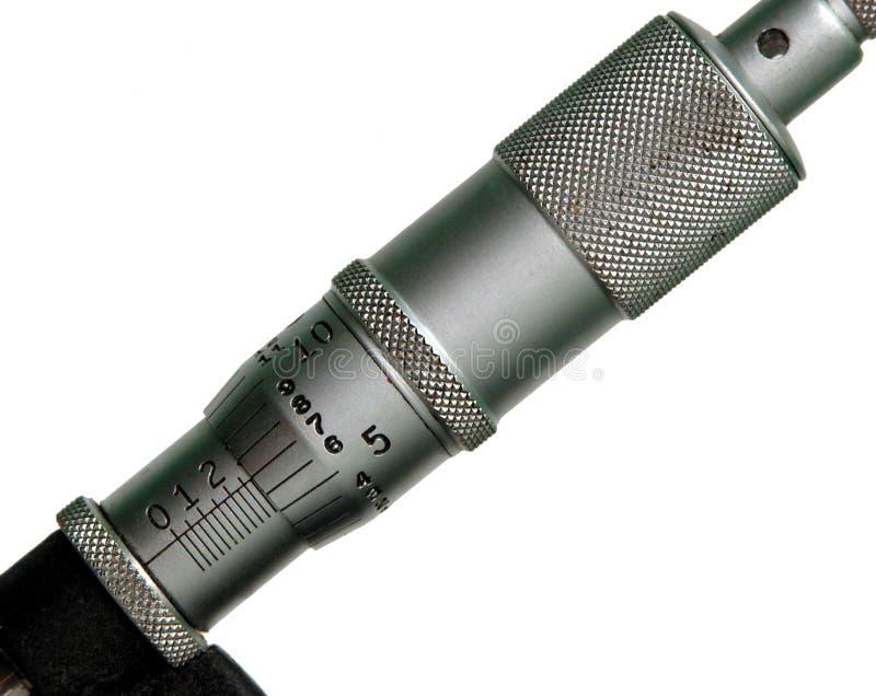 Mikrometerskala stockfotografie