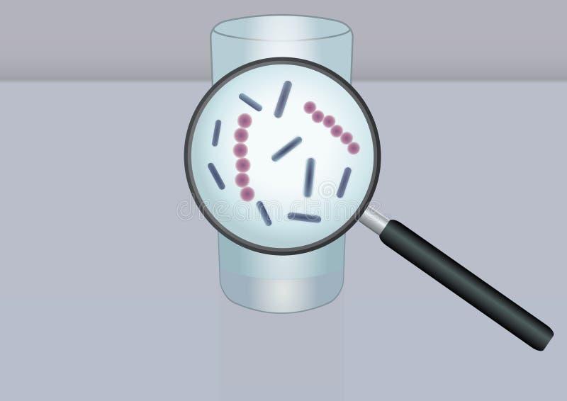 Mikroorganismer i vatten vektor illustrationer