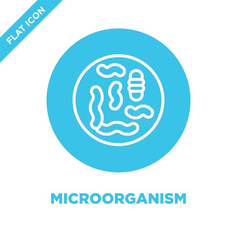mikroorganismsymbolsvektor från samling för mänskliga organ Tunn linje illustration för vektor för mikroorganismöversiktssymbol L stock illustrationer