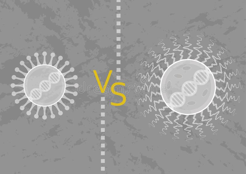 Mikroorganismus: Virus und Bakterien vektor abbildung