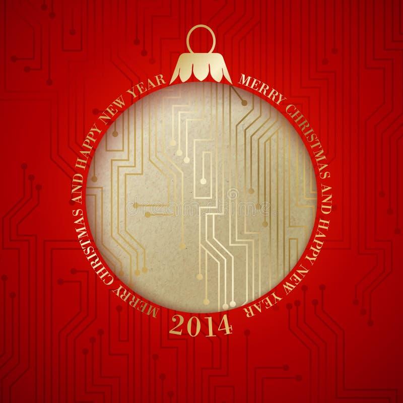 Mikroprocesoru circuitry. royalty ilustracja