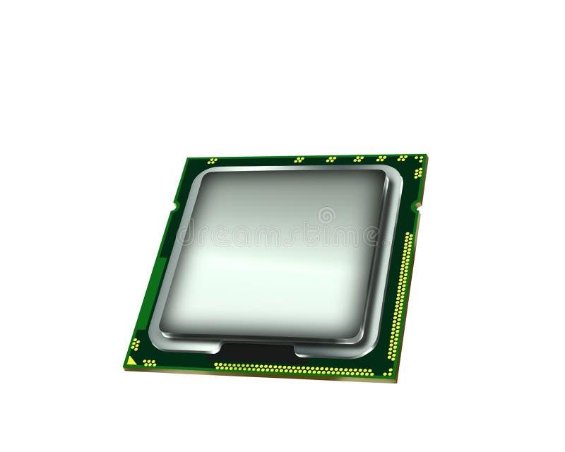 mikroprocessor vektor illustrationer