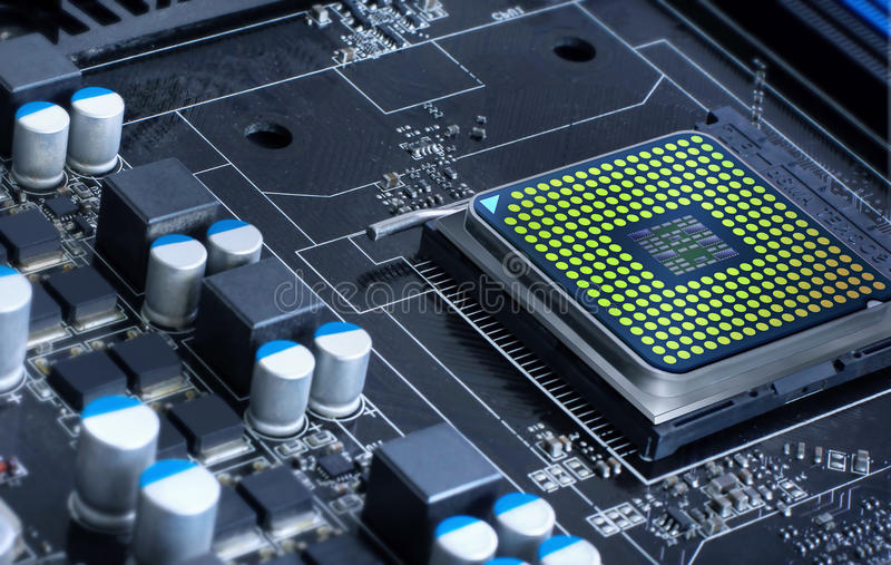 mikroprozessor stockbild