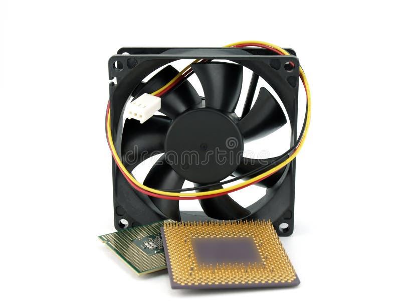 Mikroprozessoren und Gebläse lizenzfreies stockbild