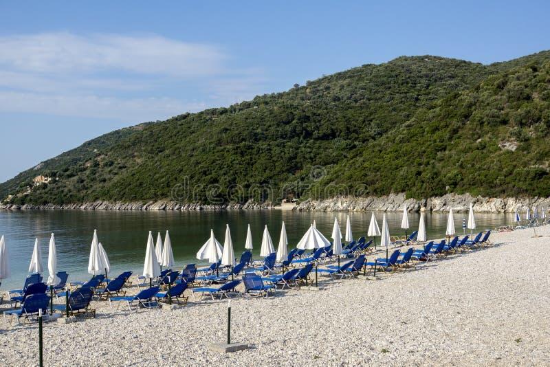 Mikros Gialos, Lefkada, ilhas Ionian imagens de stock royalty free
