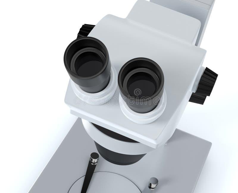 Mikroskop begrepp av vetenskaplig forskning royaltyfri illustrationer
