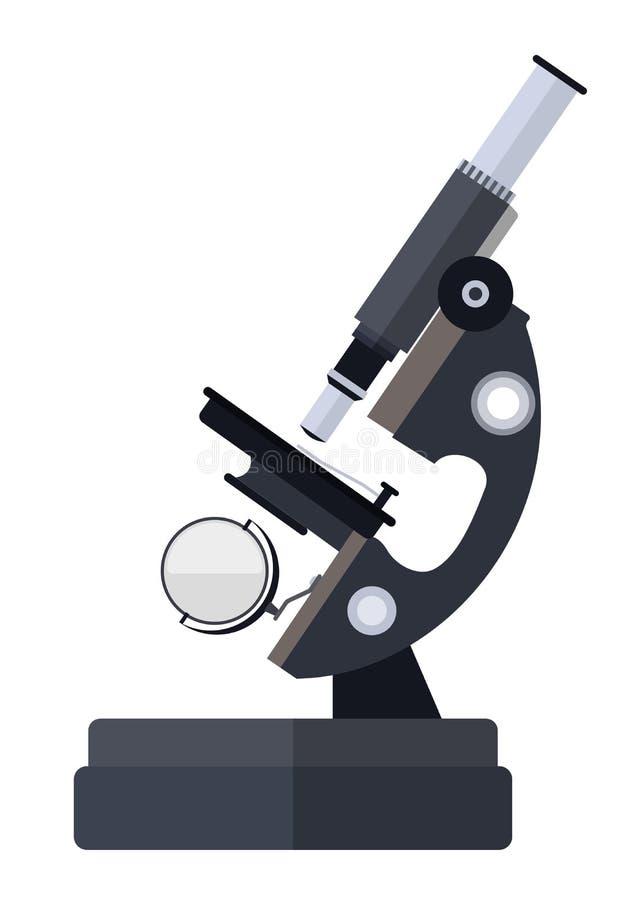 Mikroskop för forskning för medicinskt laboratorium royaltyfri illustrationer