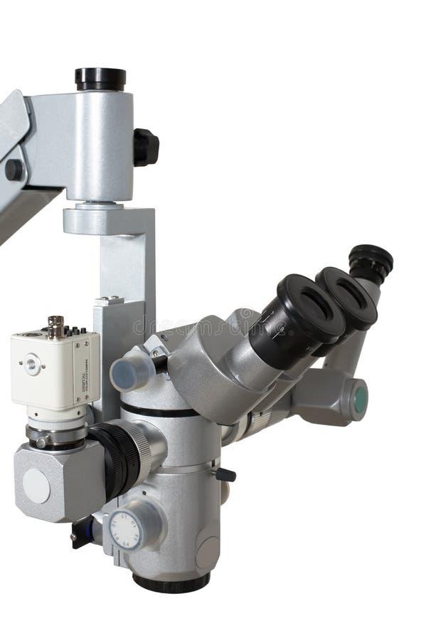 Mikroskop mit Digitalkamera lizenzfreies stockfoto