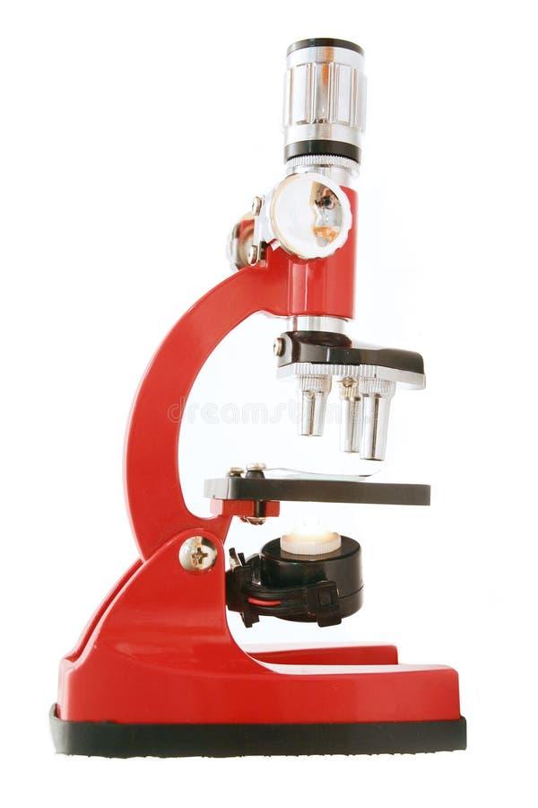 mikroskop w izolacji zdjęcia stock