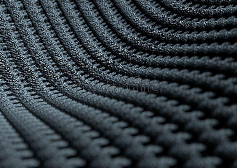 Mikroskopijny zakończenie up tkanina lub włókna z głębią pole zdjęcia royalty free