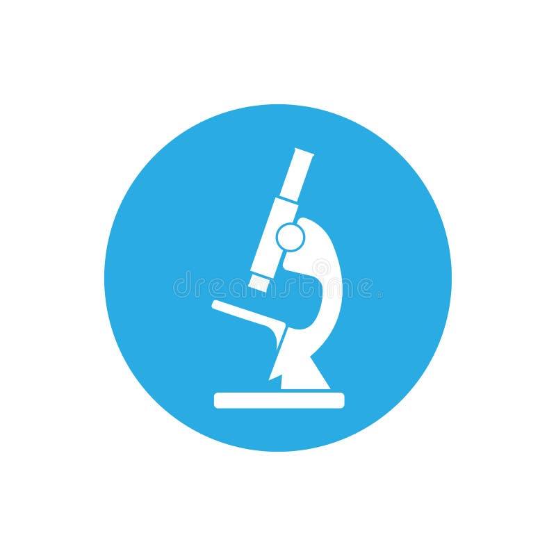 Mikroskopikone, Schattenbild Vektorillustration, flaches Design stock abbildung