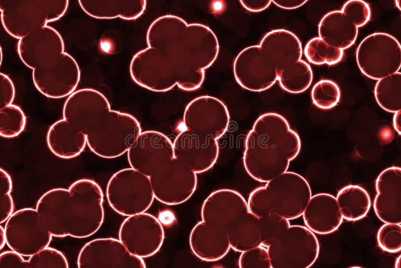 Mikroskopische leuchtende Zellen lizenzfreie abbildung