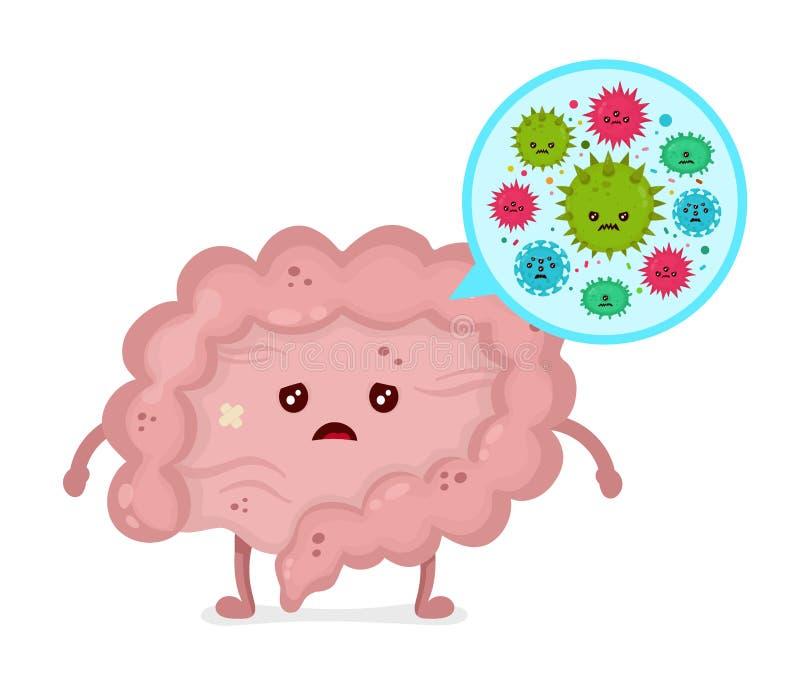 Mikroskopische schlechte bacterias Mikroflora, Viren stock abbildung