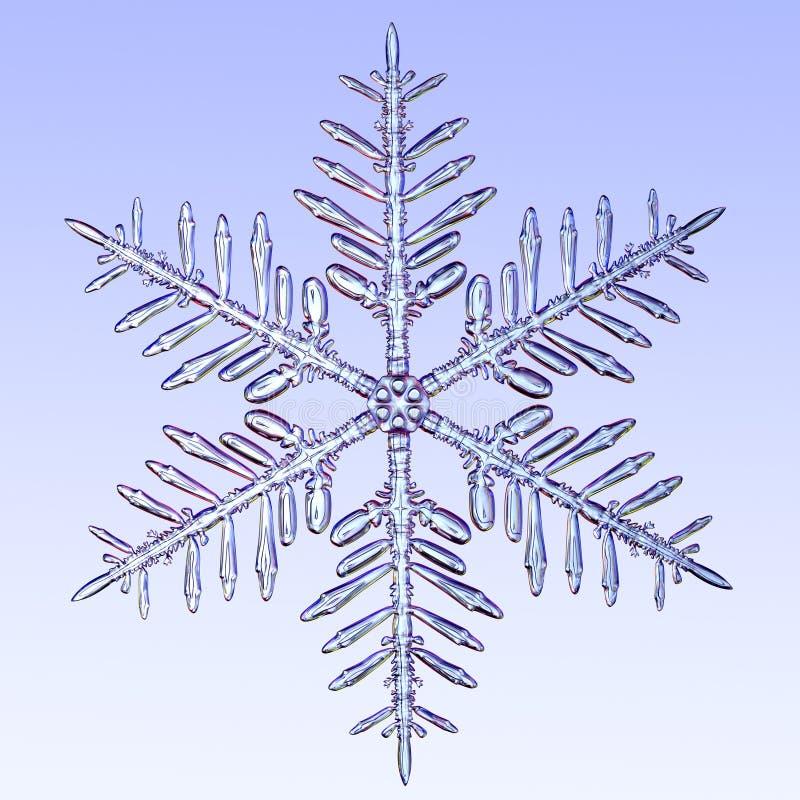 Mikroskopische Schneeflocke lizenzfreie stockbilder