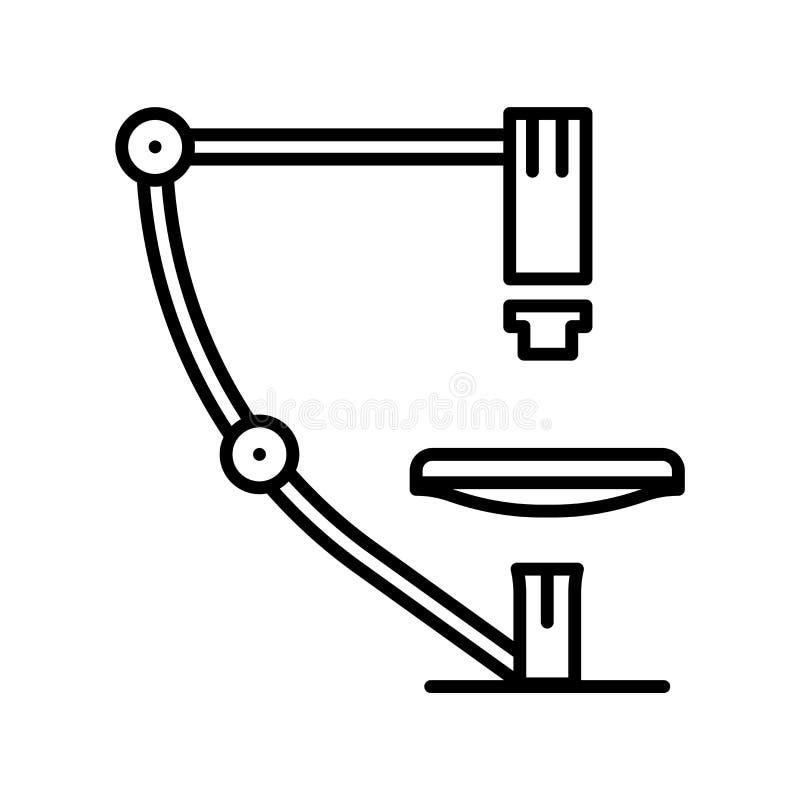 Mikroskopsymbolsvektor som isoleras på vit bakgrund, mikroskoptecken, tunn linje designbeståndsdelar i översiktsstil vektor illustrationer
