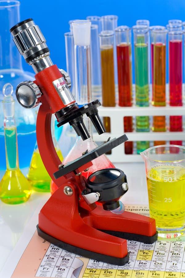 mikroskopu laborancki artykuły obrazy stock