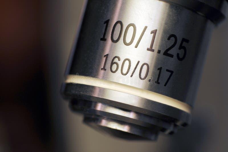 Mikroskopu obiektywu macro zdjęcia royalty free
