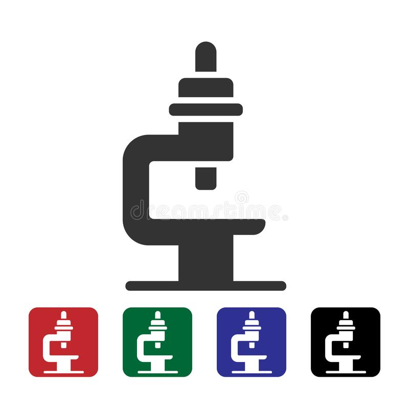 Mikroskopu wektoru ikona Prosta element ilustracja od biotechnologii poj?cia Mikroskopu wektoru ikona Bioengineering wektor royalty ilustracja