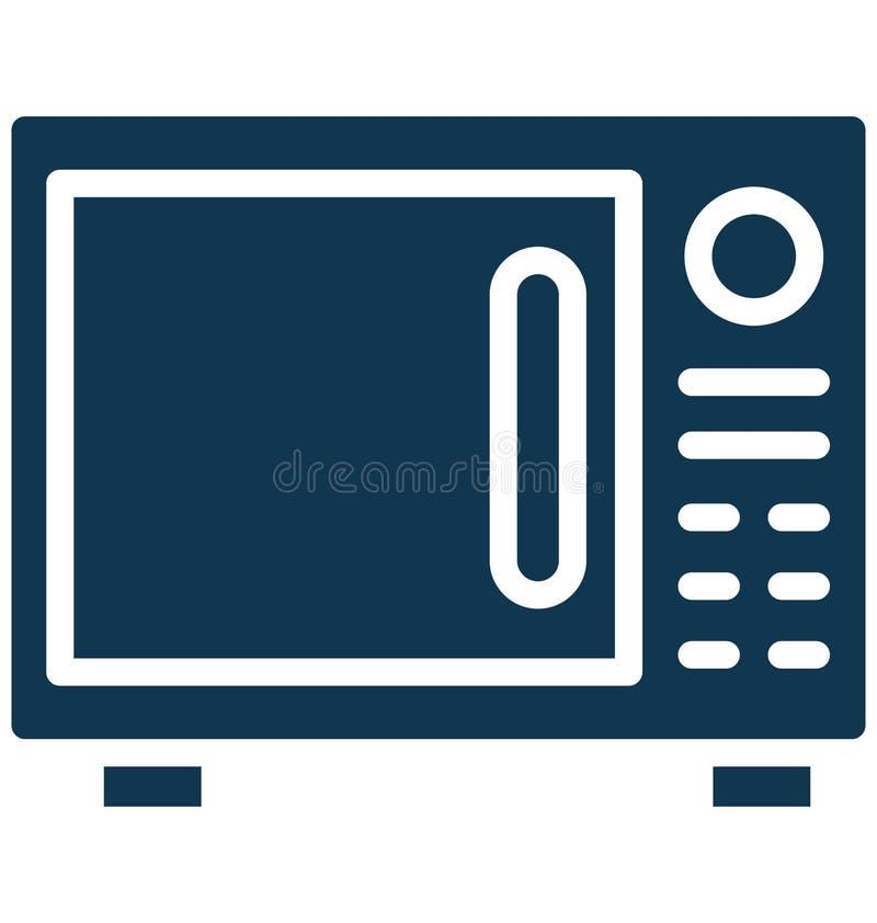 Mikrovåg elektronik isolerad vektorsymbol som kan lätt redigeras i något format eller ändras vektor illustrationer