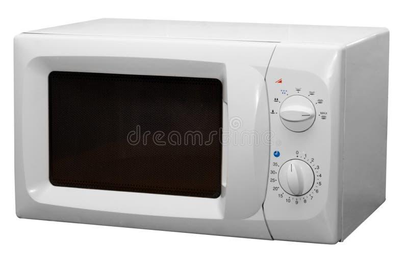Mikrowellenofen getrennt auf weißem Hintergrund lizenzfreie stockbilder