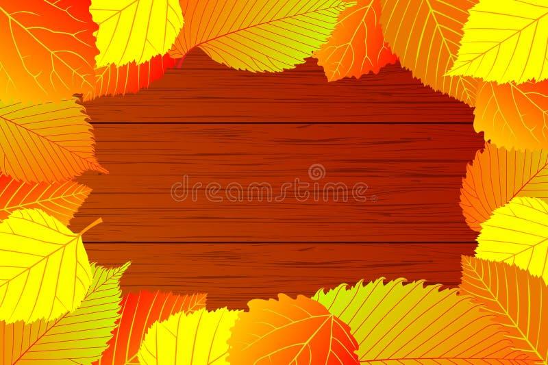Mikstura jesień liście ilustracja wektor