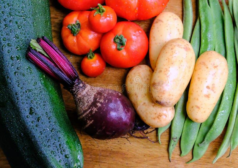 Mikstura krajowy, organicznie produkt spożywczy, myjący i przygotowywający dla zdrowego posiłku fotografia royalty free