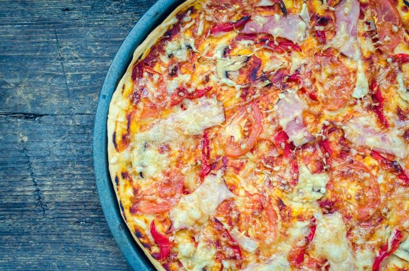 Mikstury pizzy włoszczyzny jedzenie fotografia stock