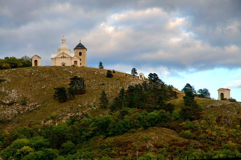 Mikulov - Heilige Heuvel royalty-vrije stock afbeeldingen