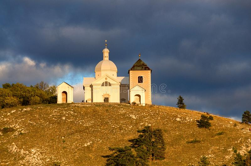 Mikulov - Holy Hill stock images