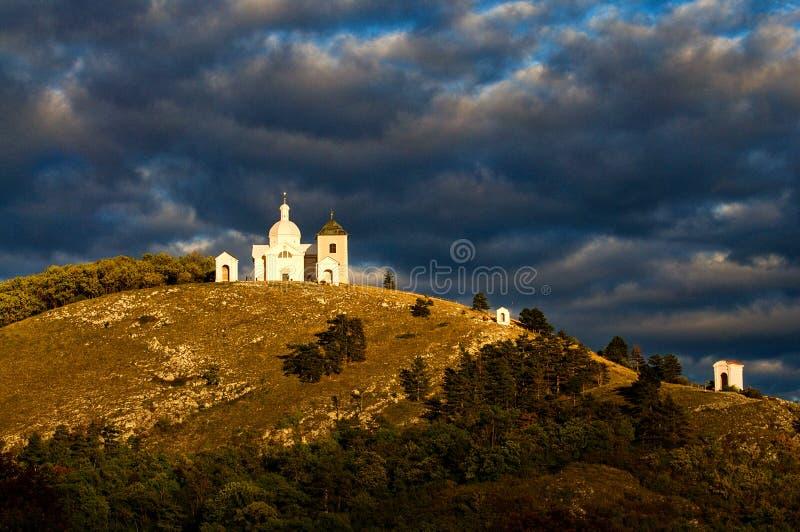 Mikulov - Holy Hill stock photography
