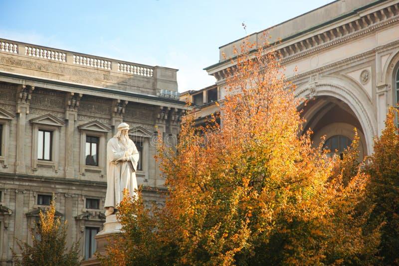 Milán, della Scala de la plaza imagenes de archivo
