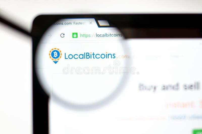 Milán, Italia - 20 de agosto de 2018: Homepage de la página web de Localbitcoins Logotipo de Localbitcoins visible libre illustration