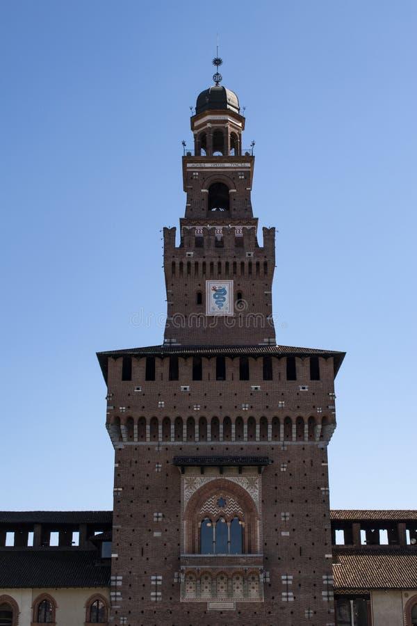 Milán, Italia, Europa, castillo de Sforza, Castello Sforzesco, biscione, serpiente, signo, emblema, escudo de armas, Visconti, no imagen de archivo