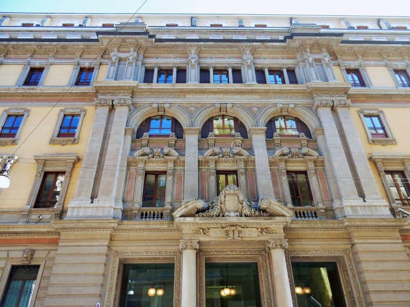 Milán - Palazzo della SIP fotos de archivo